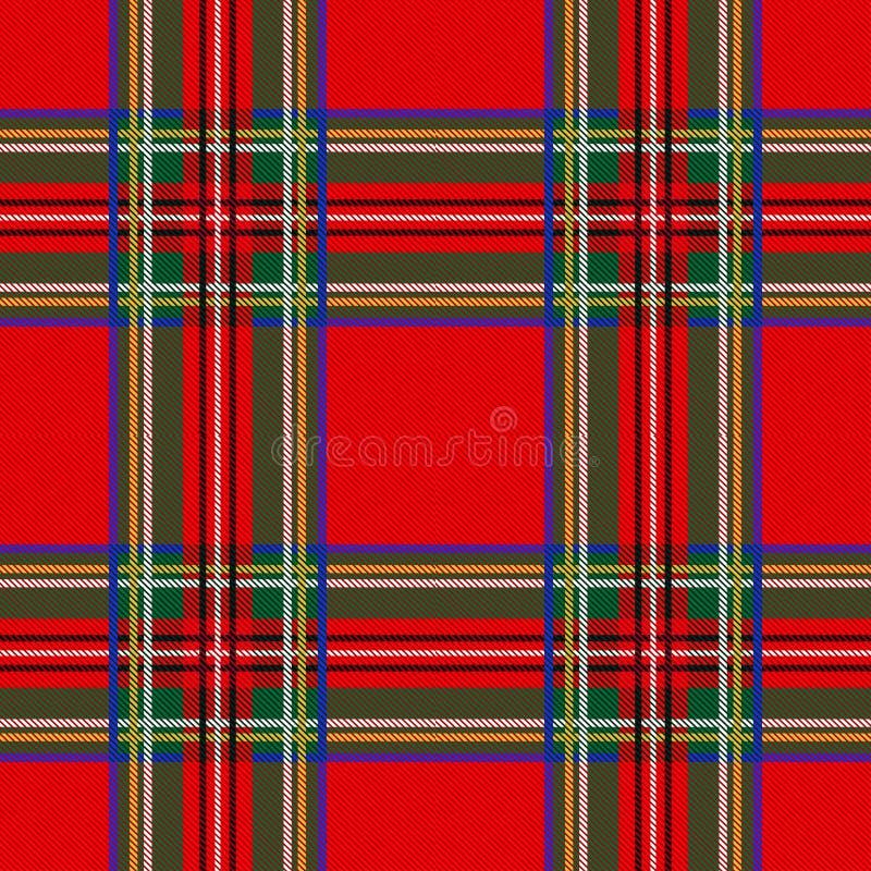 Sömlös pläd för tartanmodellbakgrund Julgarnering, skotsk prydnad vektor illustrationer