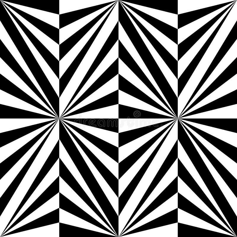 Sömlös Polygonal svartvit randig modell geometrisk abstrakt bakgrund Passande för textil, tyg och att förpacka royaltyfri illustrationer