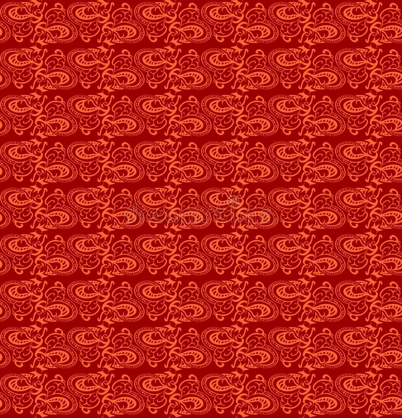 Sömlös röd Batikstiltextur royaltyfri fotografi