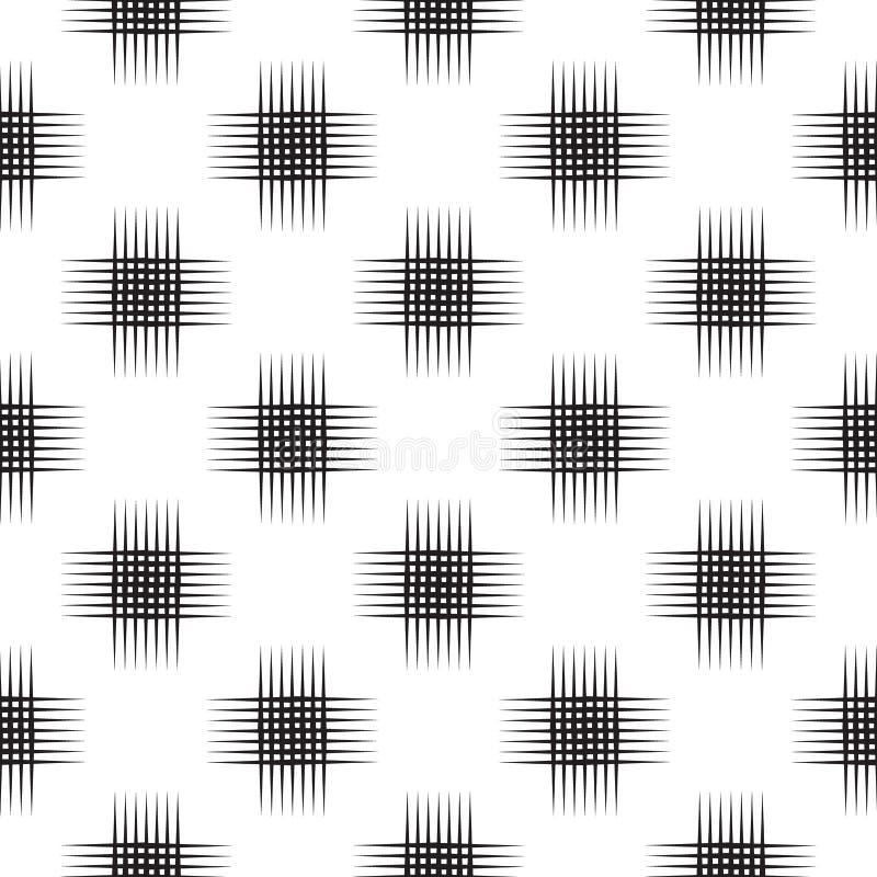 Sömlös rastrerad modell, geo, geometrisk bakgrund, textur för crosshatchskärmtryck royaltyfri illustrationer
