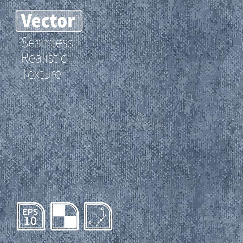 Sömlös realistisk grov bomullstvilltextur för vektor vektor illustrationer