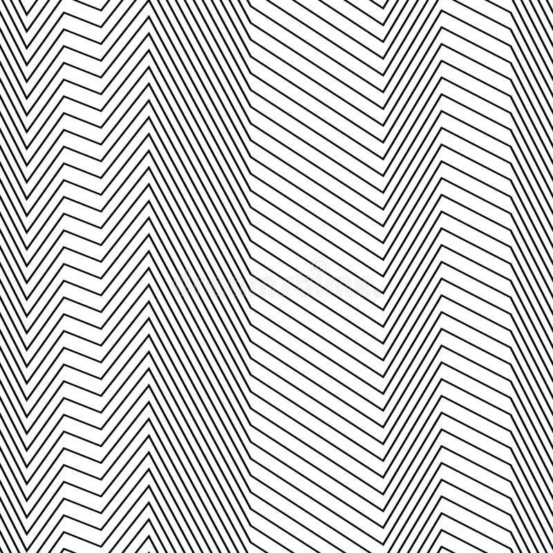 Sömlös remsamodell av sicksacklinjer stock illustrationer