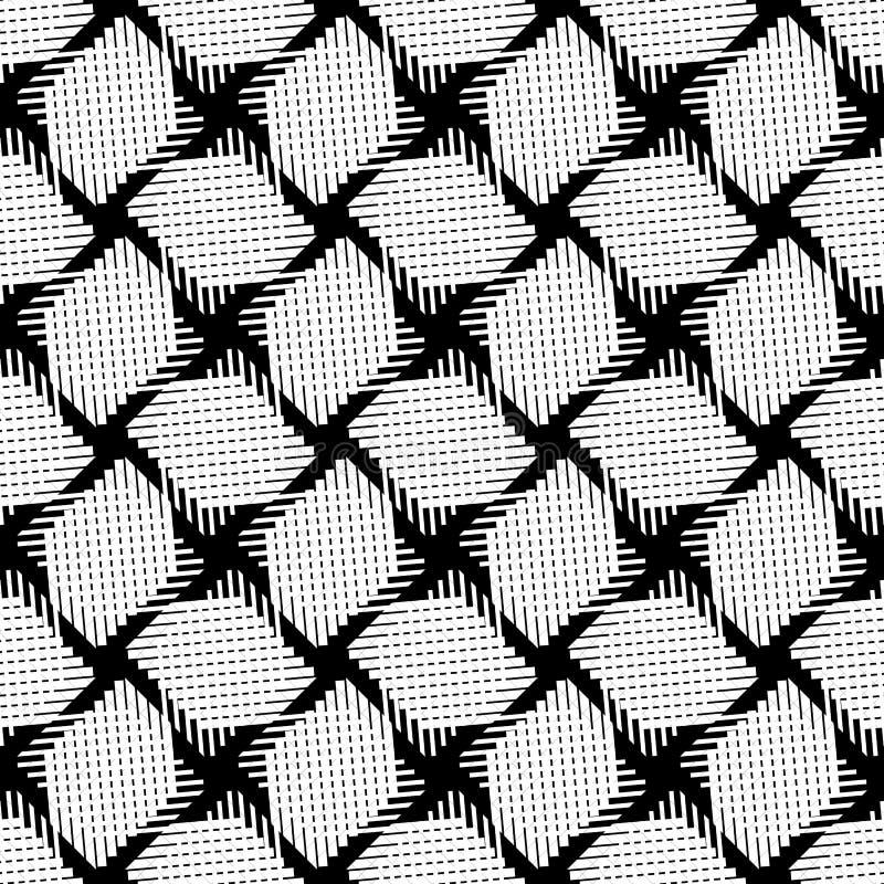 Sömlös (repeatable) geometrisk abstrakt monokrom modell til stock illustrationer