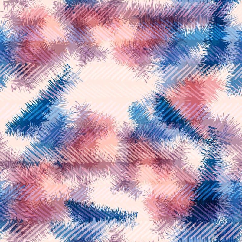 Sömlös Rorschach för färg för modellhippieband sommar vektor illustrationer