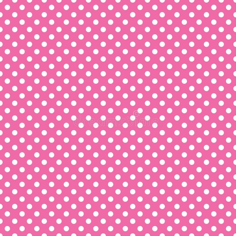 Sömlös rosa prickbakgrund vektor illustrationer