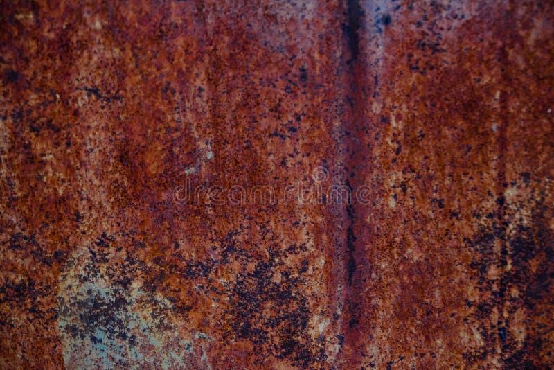 Sömlös rostig metallbakgrundstextur att stryka den metalliska smutsiga bruna väggen för gammalt rostgrungestål arkivfoton
