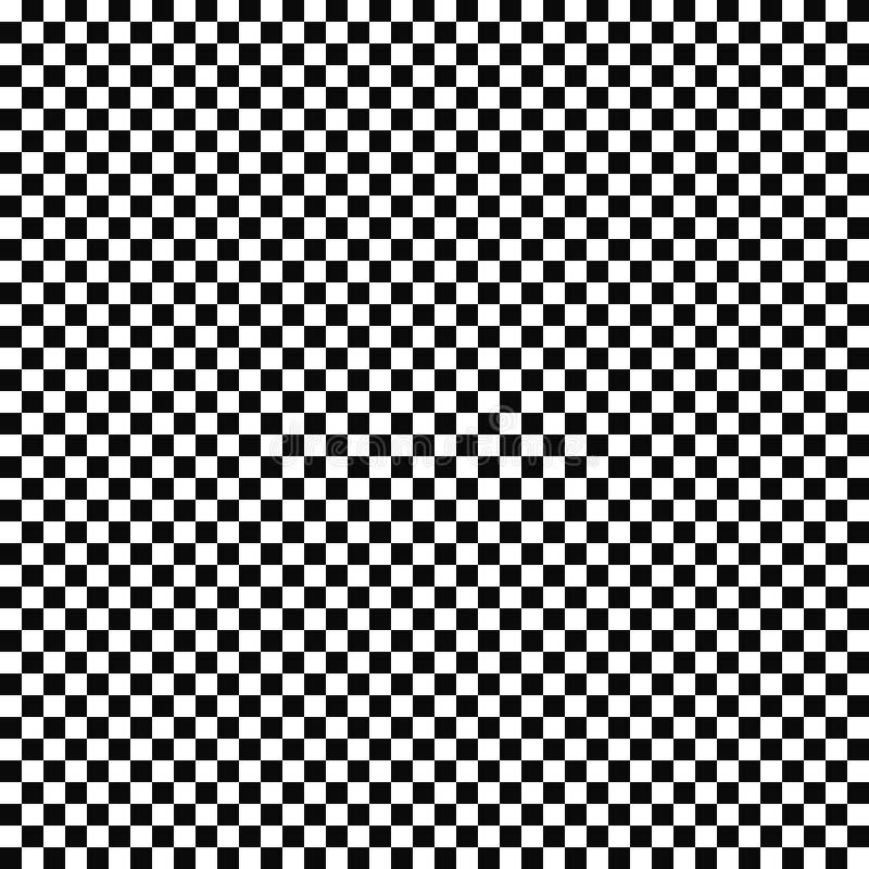 Sömlös rutig flaggamodell för vektor geometrisk textur Svartvit bakgrund Monokrom design stock illustrationer