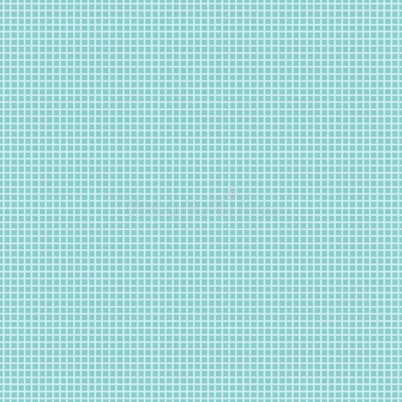 Sömlös rutig modell på turkosbakgrund royaltyfri illustrationer