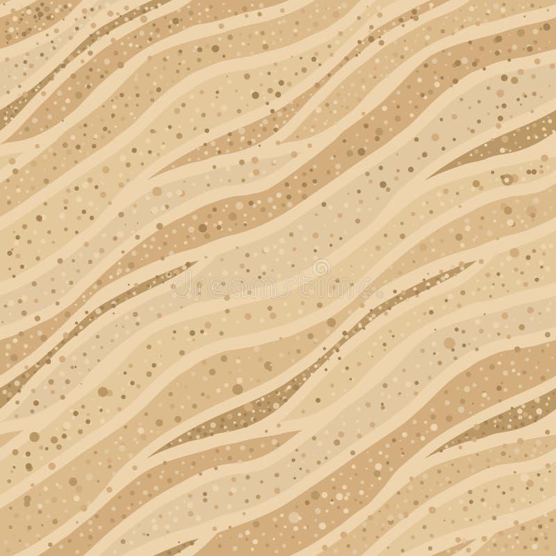 Sömlös sandtextur royaltyfri illustrationer