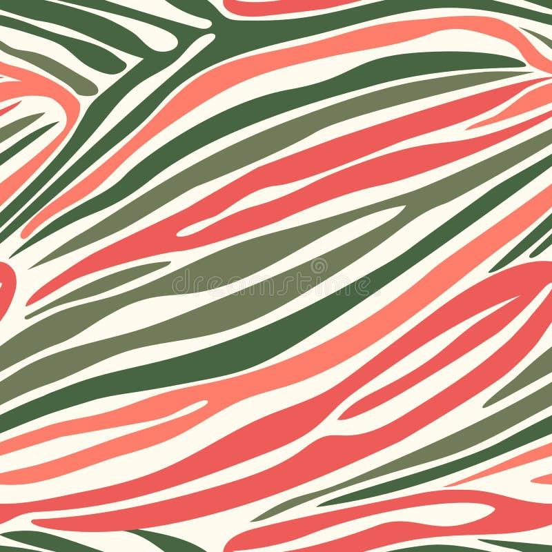 Sömlös sebrabandmodell Pri för bakgrund för djur hud för vektor vektor illustrationer