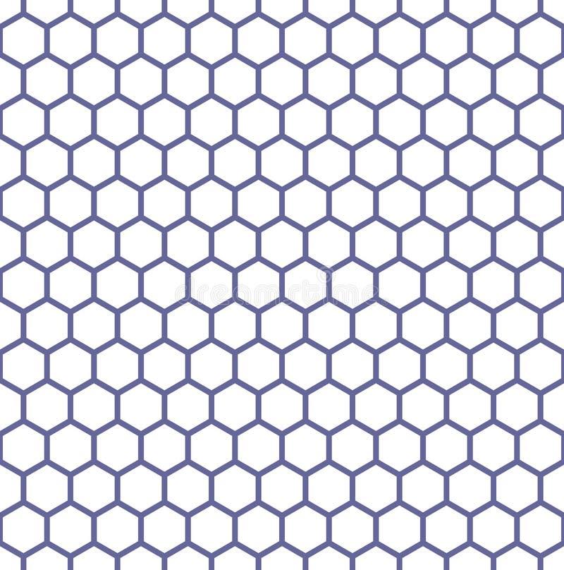 Sömlös sexhörningstextur bäst dator frambragd seamless honungskakamodellrepicate stock illustrationer