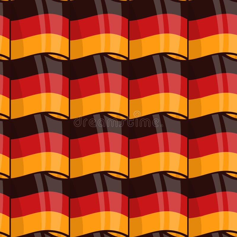 Sömlös slående in modell för tysk flagga vektor illustrationer