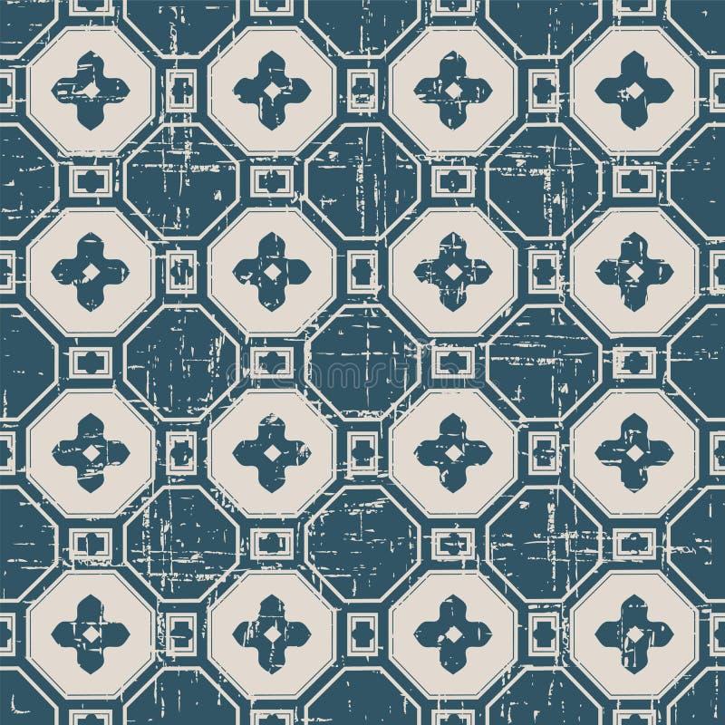 Sömlös sliten ut antik korsblomma för bakgrund 322_polygon vektor illustrationer