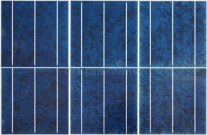 Sömlös solpaneltextur arkivfoto
