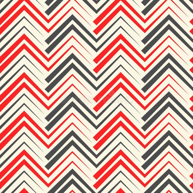 Sömlös sparretapet Geometrisk randig prydnad royaltyfri illustrationer