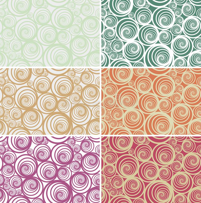 Sömlös spiral vektormodell i ljusa olika färger arkivfoto