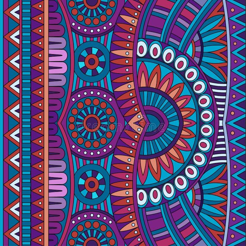 Sömlös stam- etnisk bakgrund för abstrakt vektor royaltyfri illustrationer
