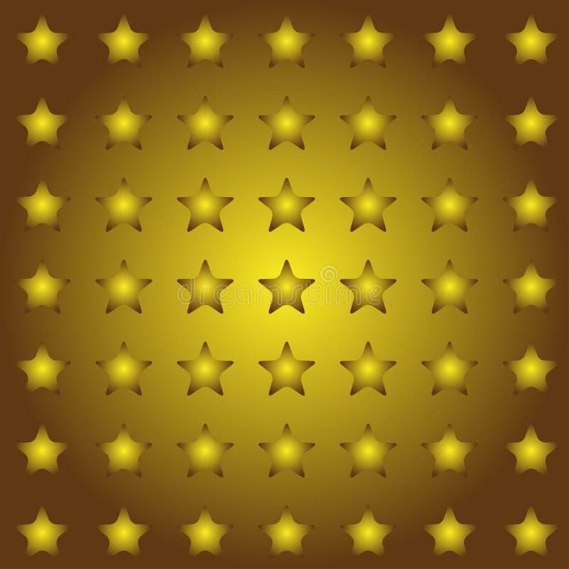 Sömlös stjärnabakgrund i vektor stock illustrationer