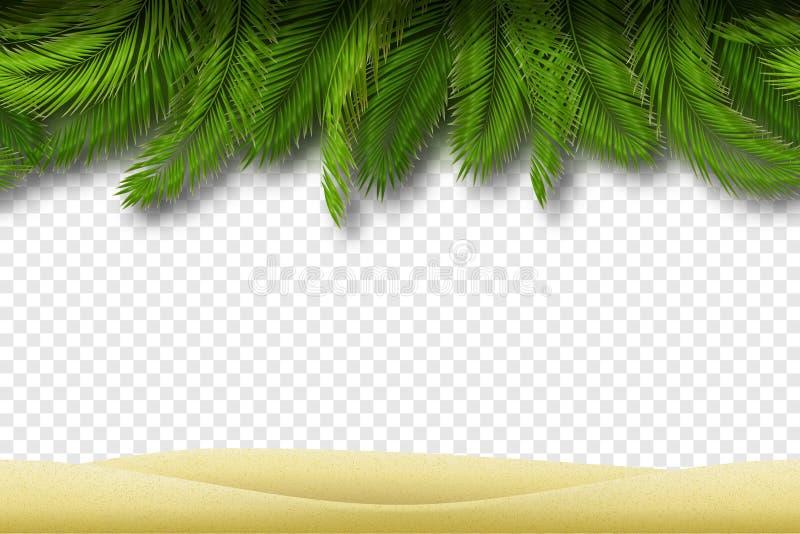 Sömlös strandgräns vektor stock illustrationer