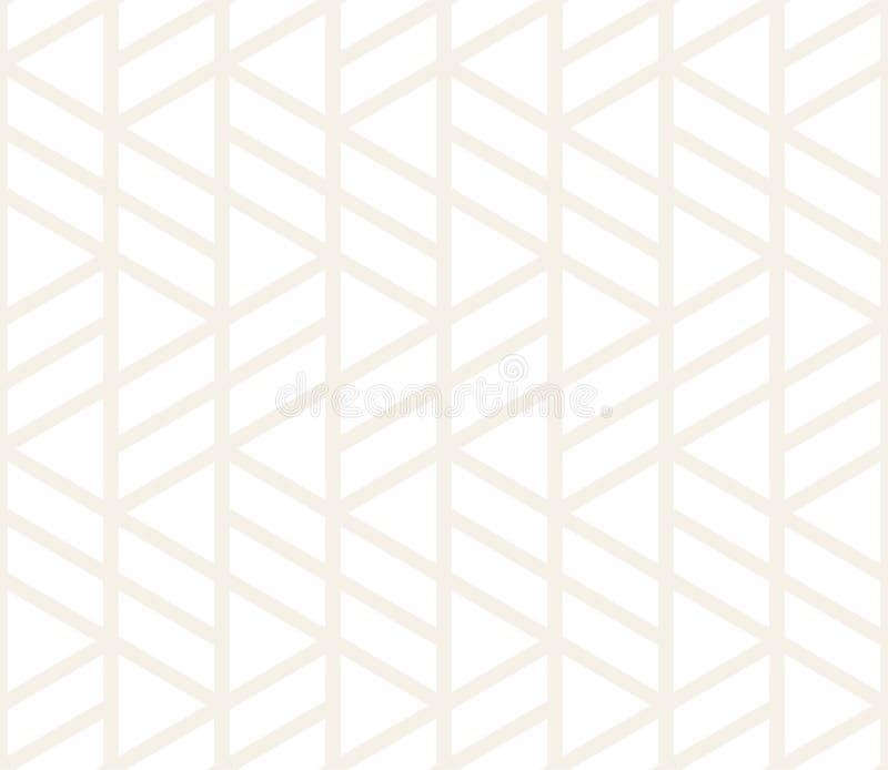 Sömlös subtil modell för vektor Modern stilfull abstrakt textur Upprepa geometriska tegelplattor vektor illustrationer