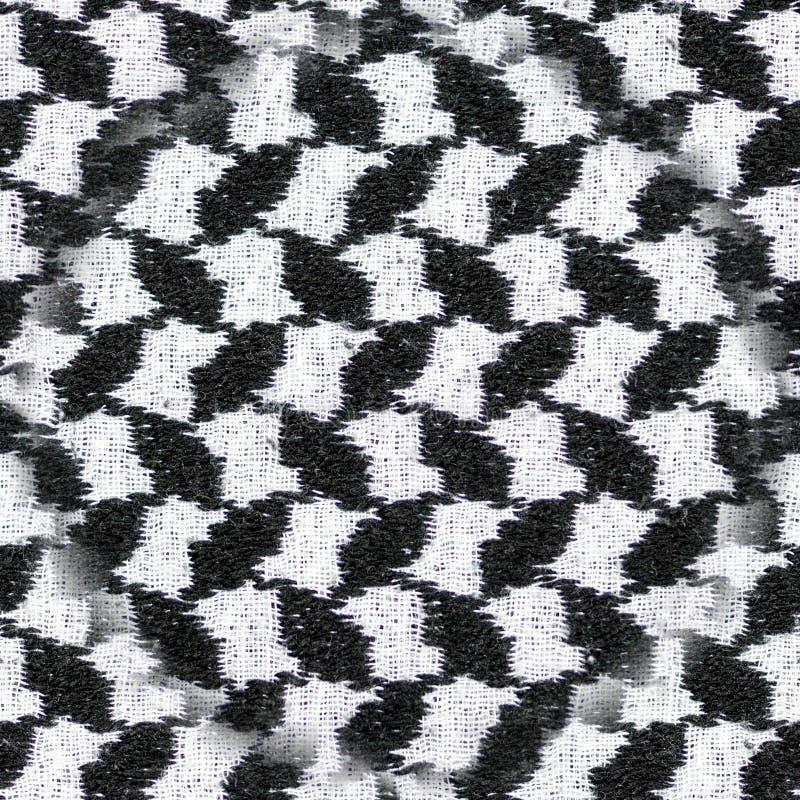 Sömlös svartvit arabisk stiltygtextil Bakgrund texturerar royaltyfri fotografi
