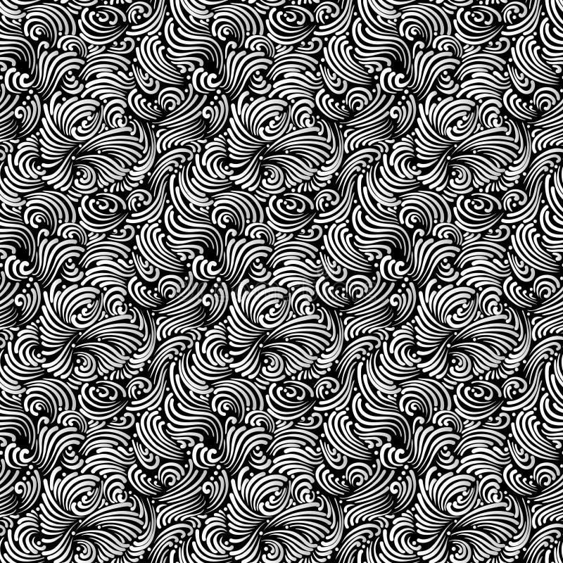 Sömlös svartvit bakgrund royaltyfri illustrationer