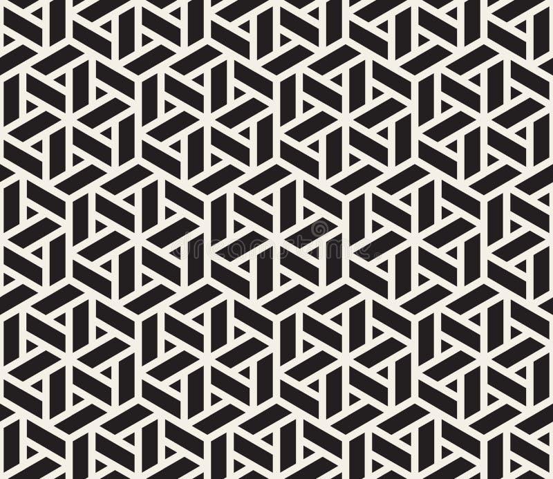 Sömlös svartvit geometrisk rastermodell för vektor vektor illustrationer