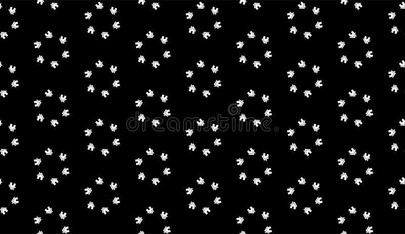Sömlös svartvit hem- modellbakgrund för vektor royaltyfri illustrationer