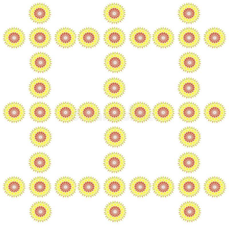 Sömlös symmetrisk modell på en ljus vit bakgrund royaltyfri illustrationer