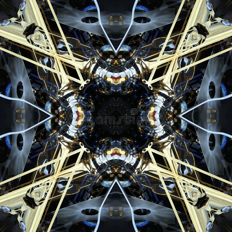 Sömlös symmetrisk textur för abstrakt maskin för modell fotografering för bildbyråer