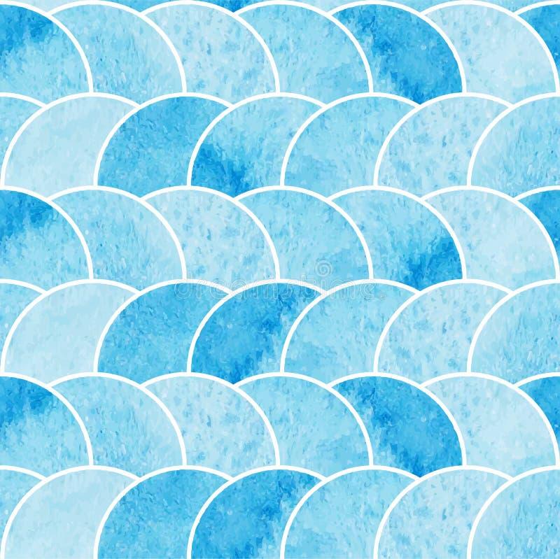 Sömlös tapet för vattenfärgblåttabstrakt begrepp arkivfoto