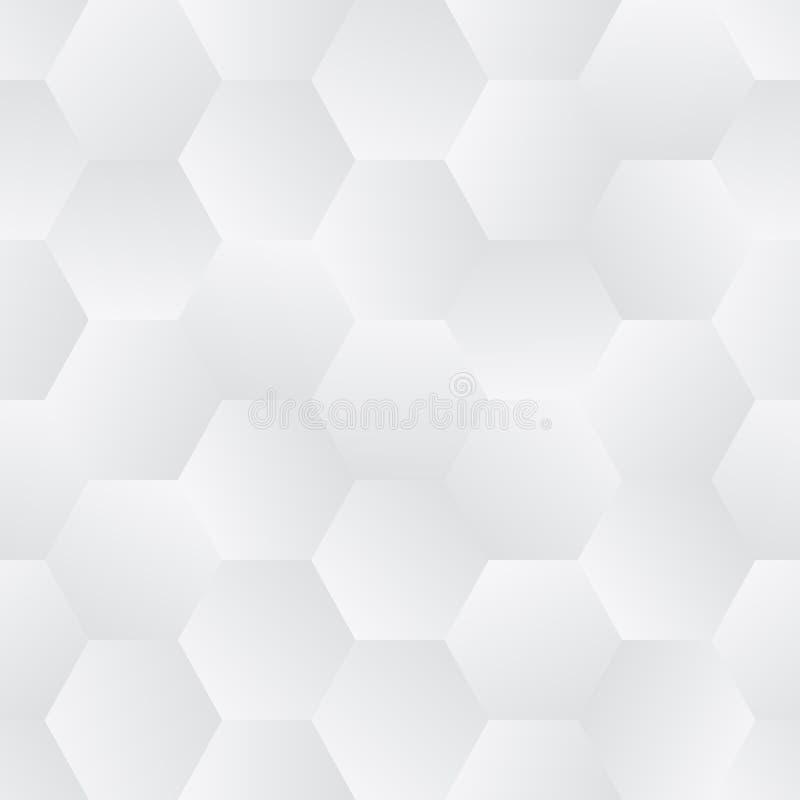 Sömlös tegelplatta av mosaik- sexhörningar med Randomized gråton royaltyfri illustrationer