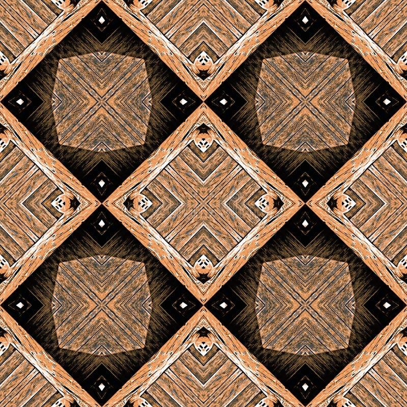 Sömlös tegelplatta för trämodell arkivfoto