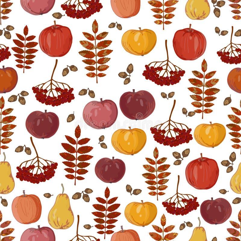 Sömlös textur av äpplen royaltyfri foto