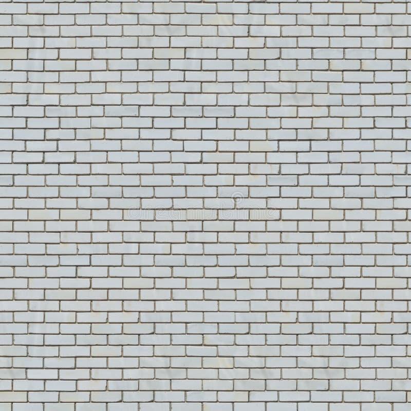 Sömlös textur av den vita tegelstenväggen. arkivfoto