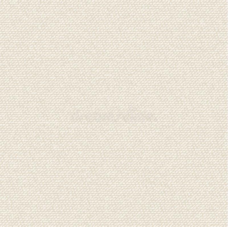 Sömlös textur av kanfas stock illustrationer