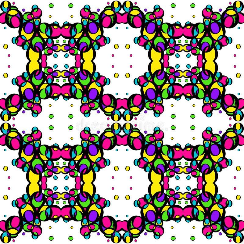Sömlös textur av kulöra ljusa cirklar stock illustrationer
