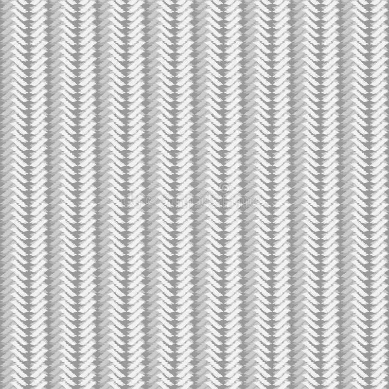 Sömlös textur av ljus stack tyg av grov rät maska stock illustrationer