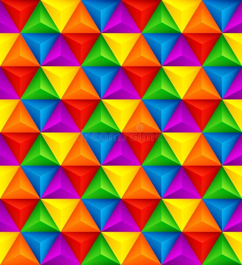 Sömlös textur 3D för abstrakt geometrisk triangel också vektor för coreldrawillustration royaltyfri illustrationer