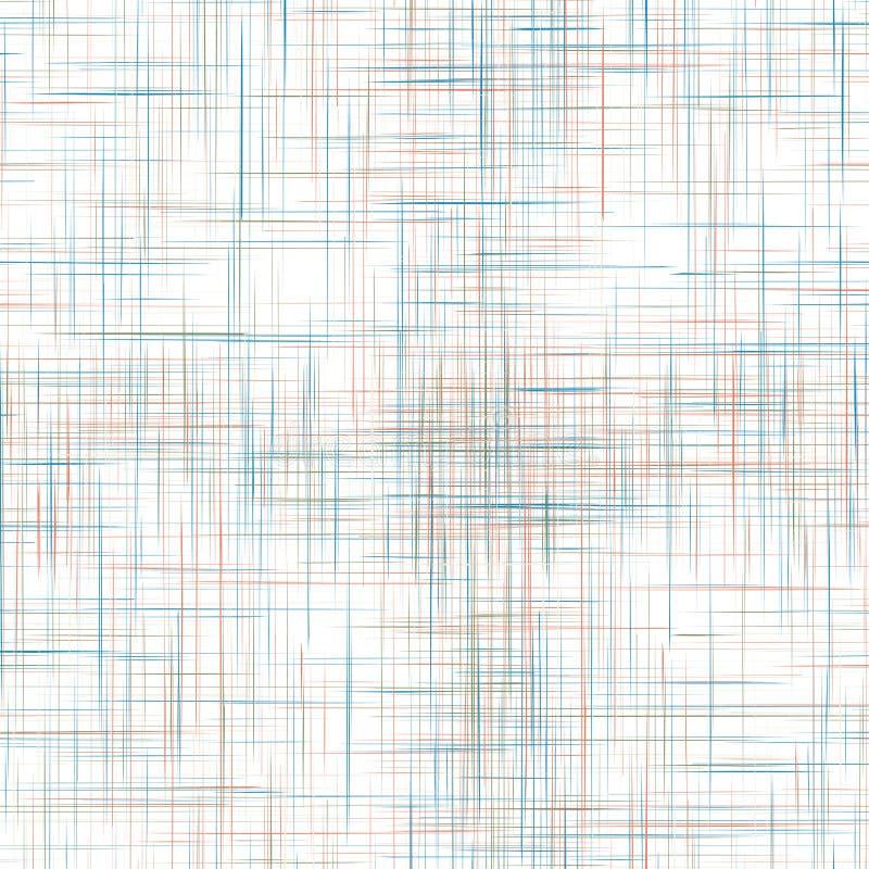 Sömlös textur för färgrik linne vektor illustrationer