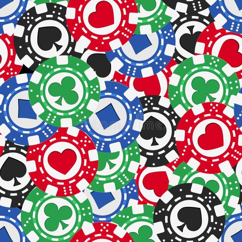 Sömlös textur för pokerchiper royaltyfri illustrationer