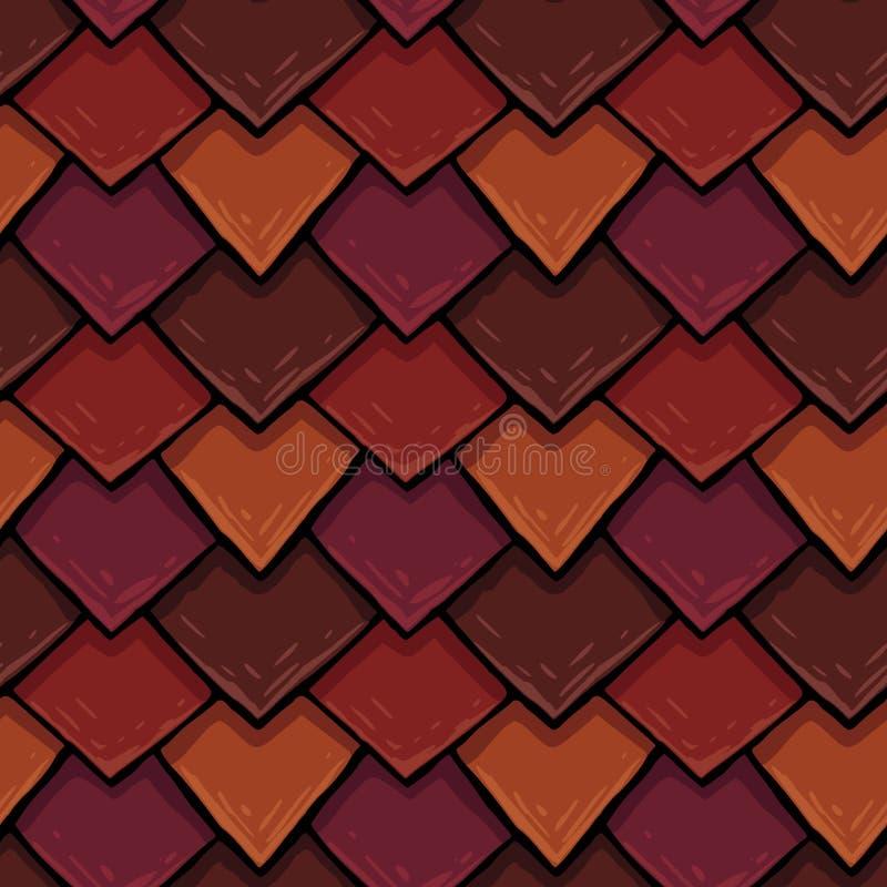 Sömlös textur för raster av takräkningen, tegelplatta med romber royaltyfria foton