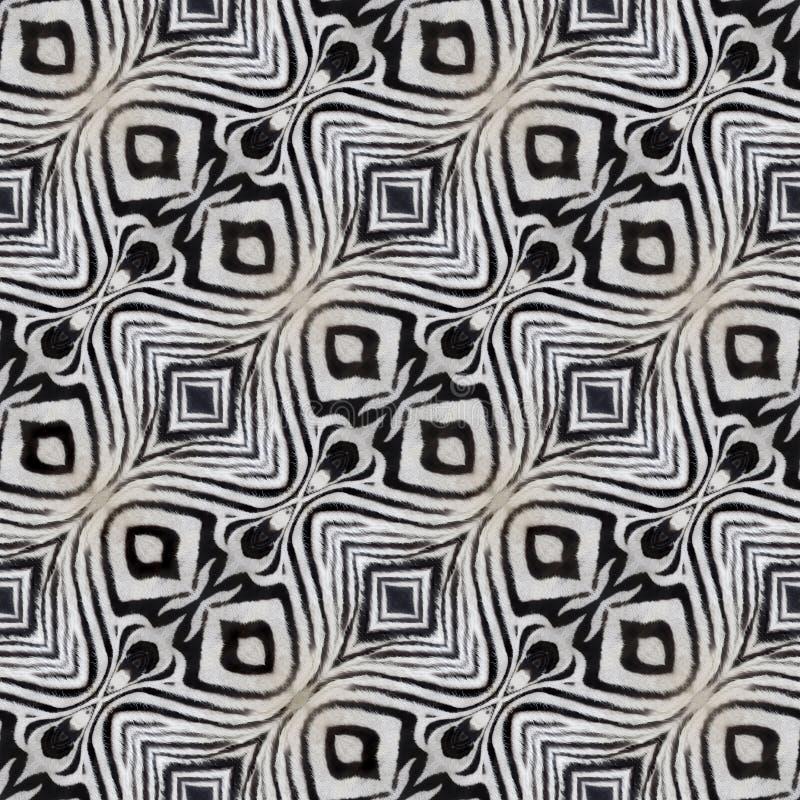 Sömlös textur för sebraläder royaltyfri fotografi