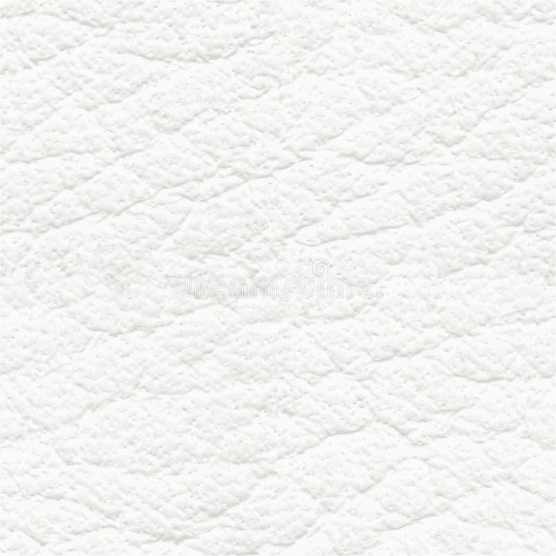 Sömlös textur för vitt läder stock illustrationer