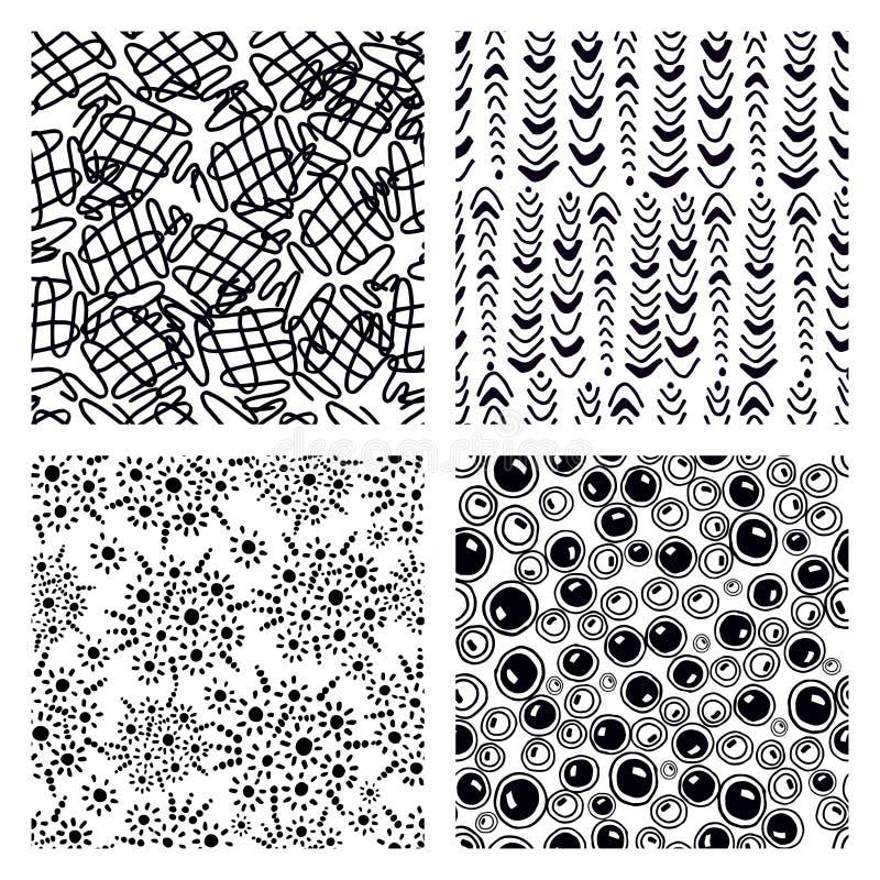 Sömlös textur för zen-tovor vektor illustrationer