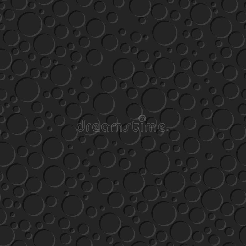 Sömlös textur med cirkeln. Abstrakt bakgrund stock illustrationer