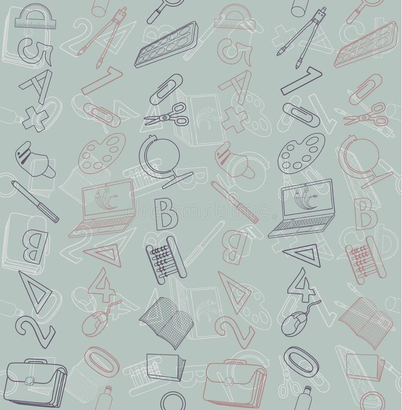 Sömlös textur med den abstrakta modellen på utbildning eller affär vektor illustrationer