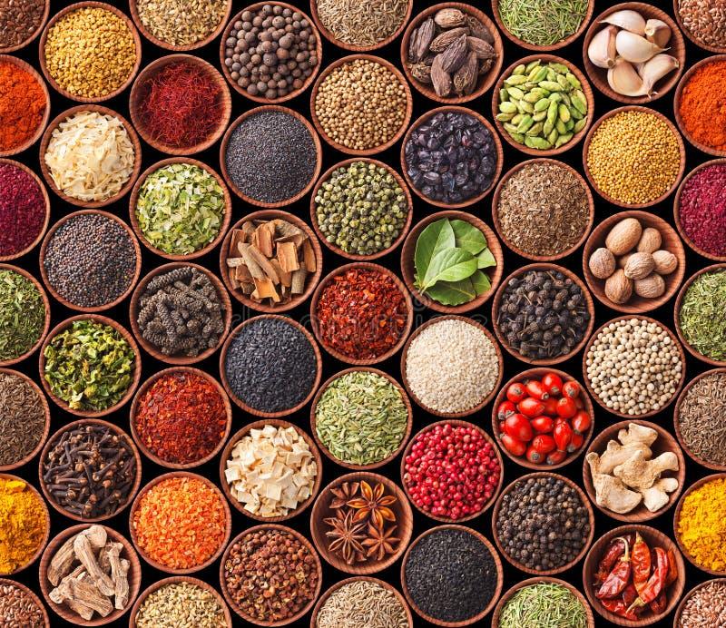 Sömlös textur med kryddor arkivbilder