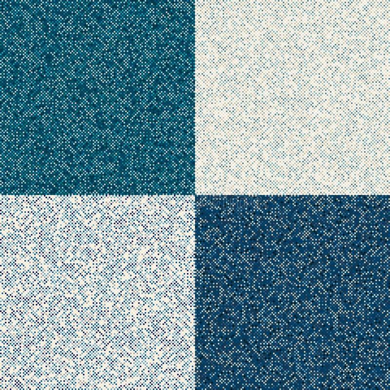 Sömlös textur med på måfå gjorde mellanslag punkter May att användas som emballage Blåttprickuppsättning royaltyfria bilder