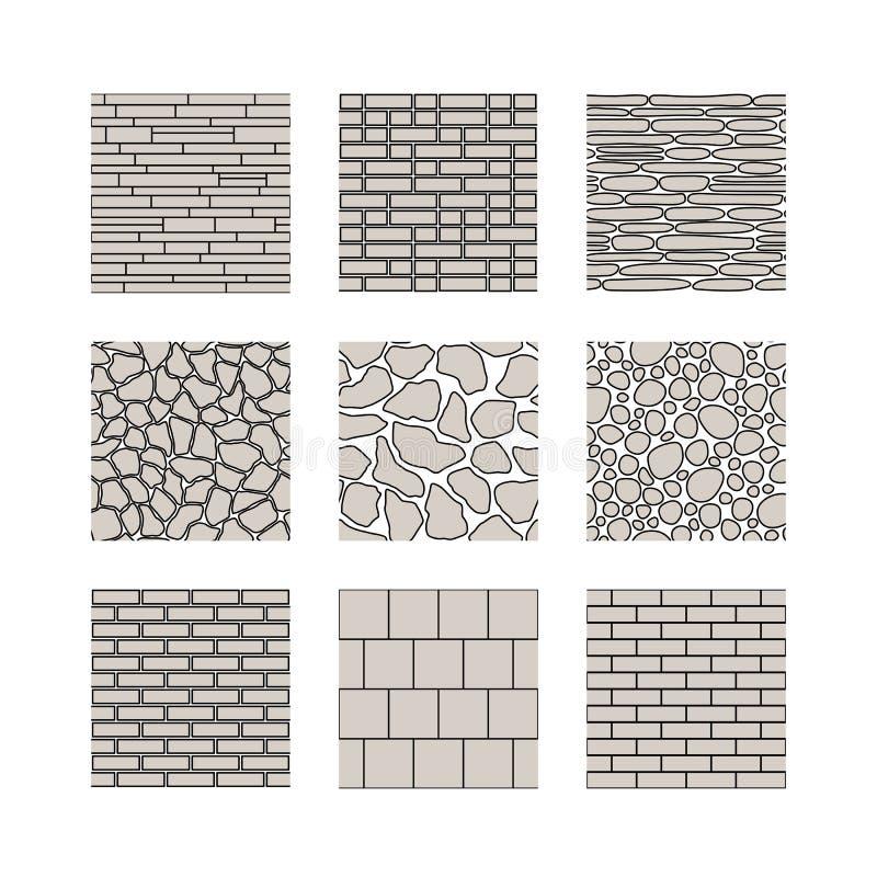 Sömlös textur - stenvägg stock illustrationer